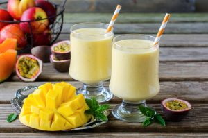 mango and peach protein shake