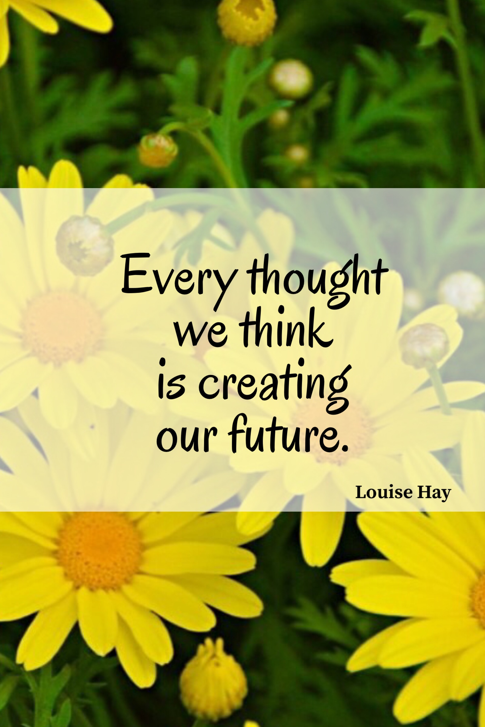 Thoughts create our future