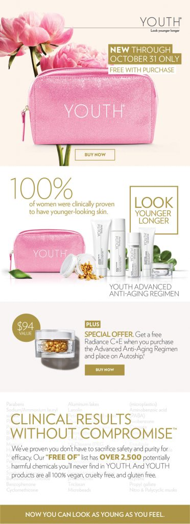 pink youth anti aging skincare