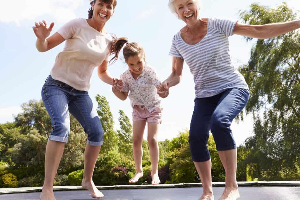 health bounce on trampoline
